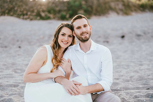 Monica Metzger and Mike Kopensky's love story began while they were both working at Domino's in Orlando,             Florida.